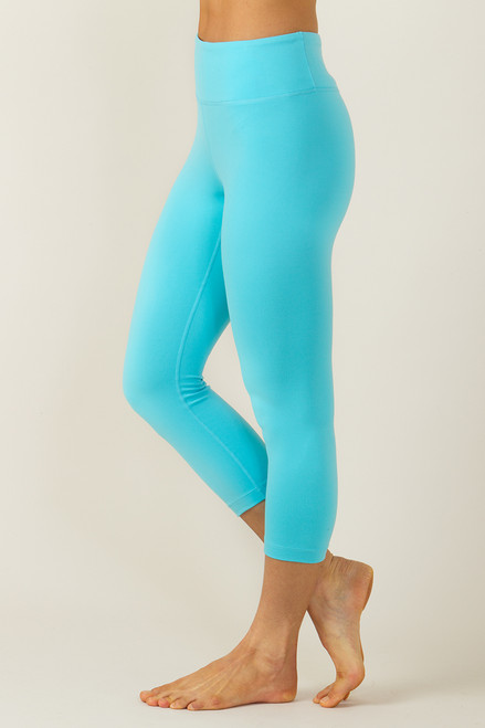 Grace High-Waisted Yoga Capri (Calypso blue)