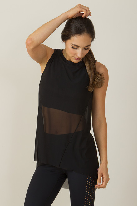 KiraGrace High Low Mesh Yoga Tunic