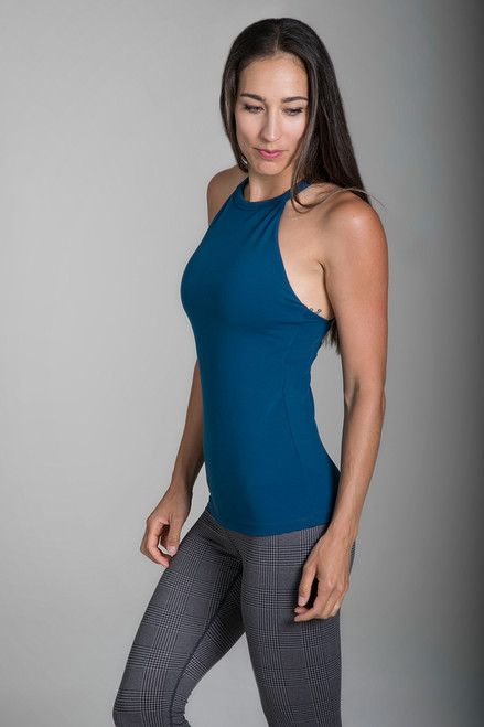 KiraGrace Grace Yoga Halter in Blue Abyss