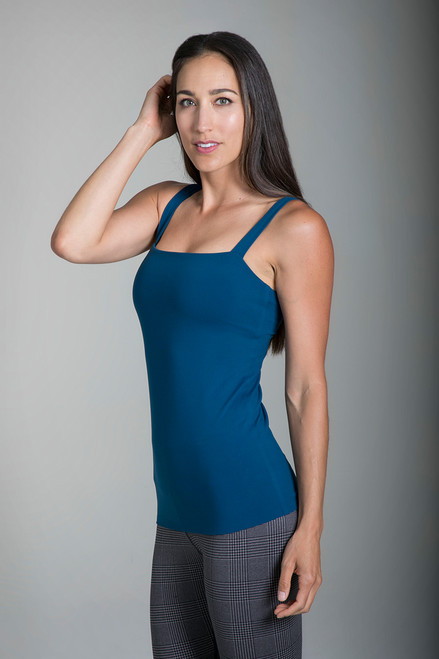Grace Refined Yoga Cami in Blue Abyss