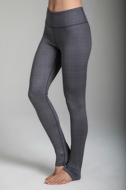 Grace High-Waisted Yoga Tight in Glen Plaid