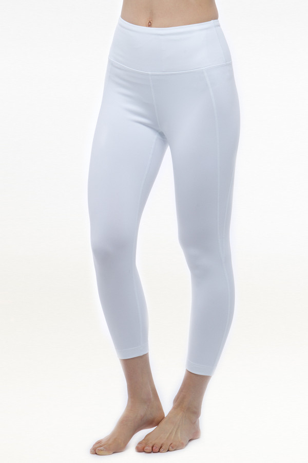 4bace357e2327 Ultra High Waist Capri in White | Yoga Capris & Crops | KiraGrace