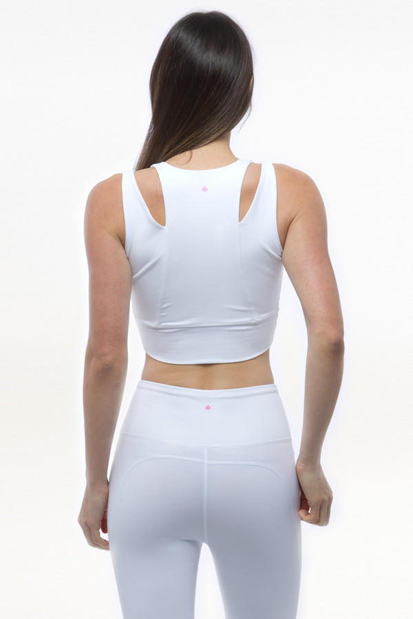 White Grace Yoga Crop Tops bra