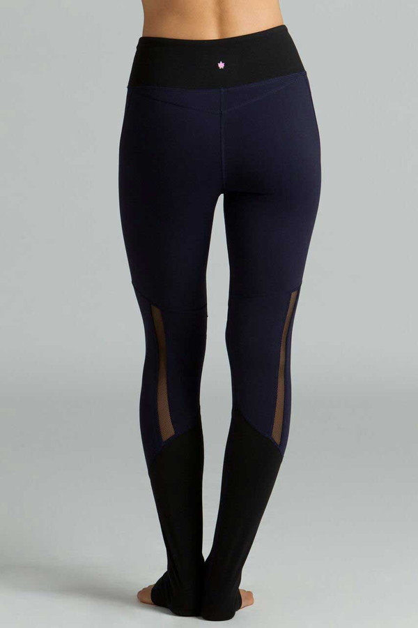 Strut Yoga Legging navy and black mesh back
