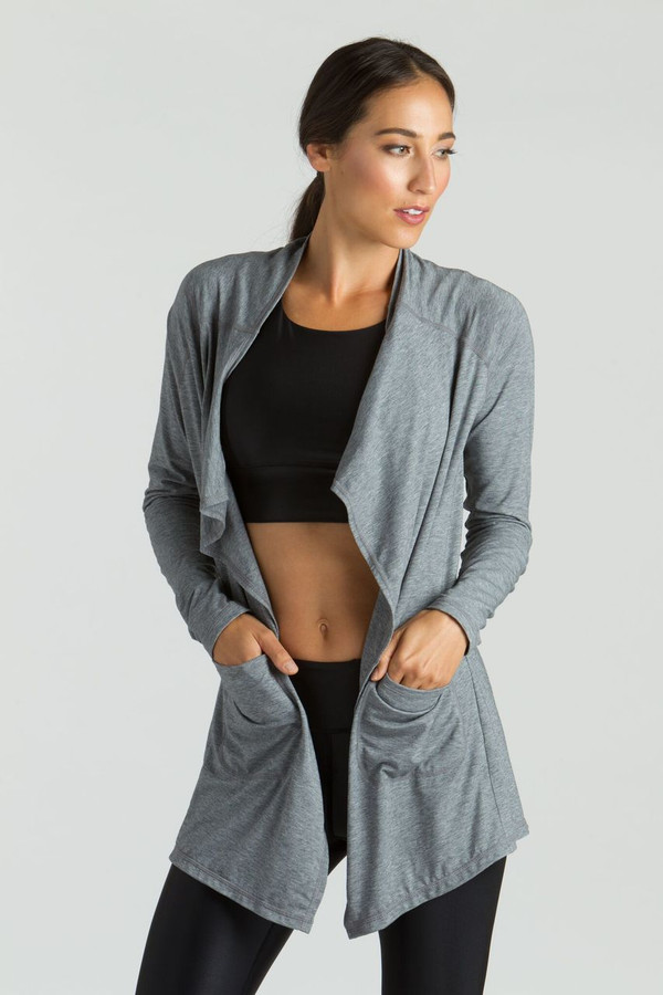KiraGrace Grace Cardigan in heather grey