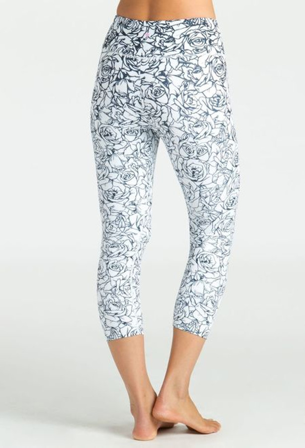 KiraGrace Grace High Waist Yoga Capri in Etched Floral back