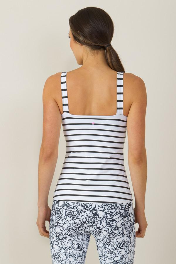 KiraGrace Grace Refined Yoga Cami White Stripe print
