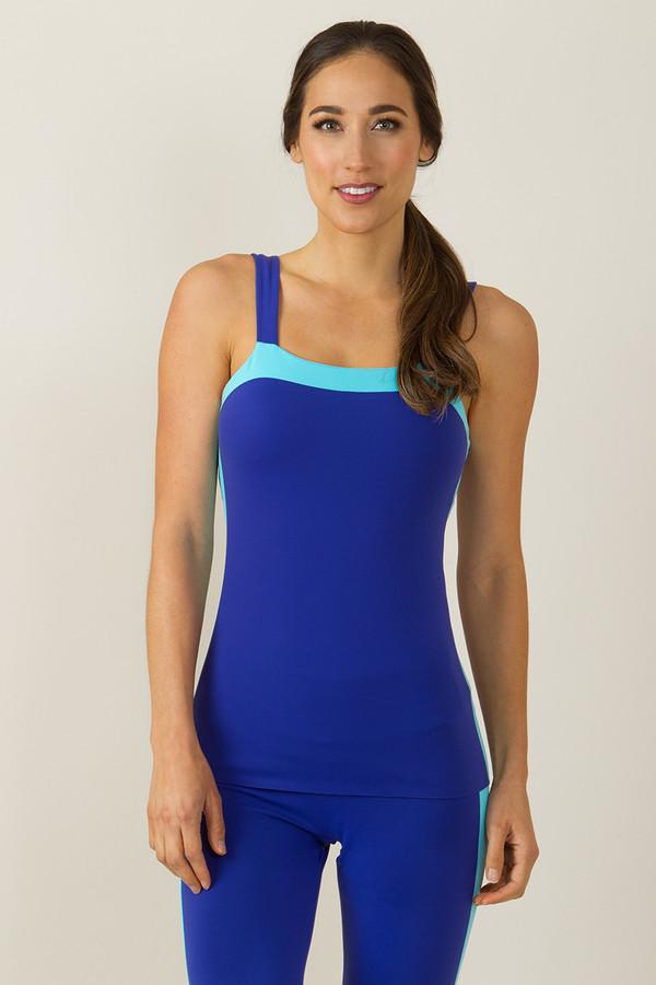 Grace Bodice Yoga Tank (Paradise/Calyspo blue)