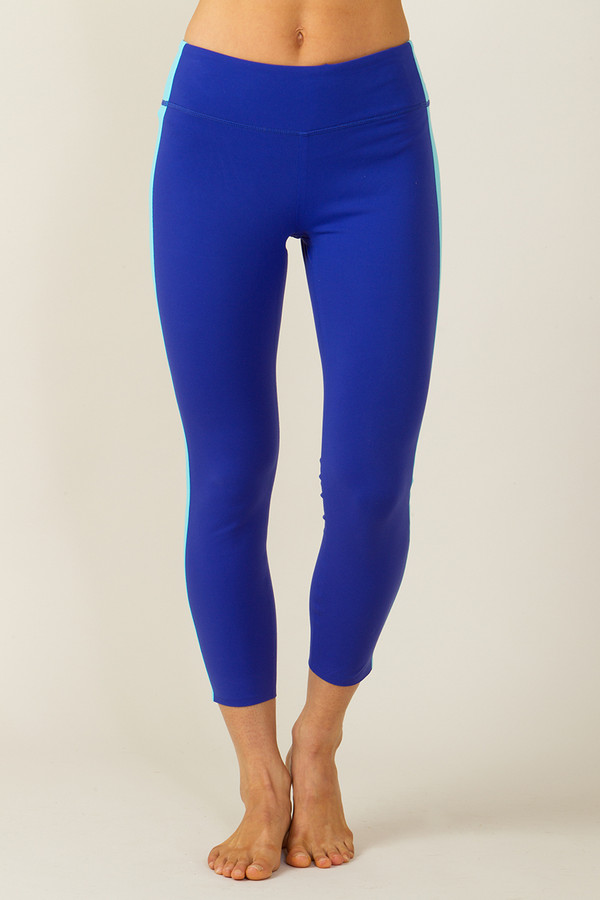 Grace Refined Yoga Legging (Paradise/Calypso blue)