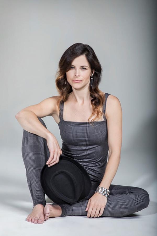 KiraGrace Grace Refined Yoga Cami in Glen Plaid