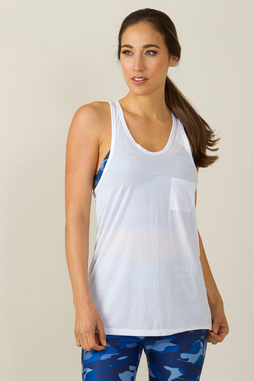 2b676f0e5ee347 Pocket racerback in white yoga tops and tanks kiragrace jpg 853x1280 White  yoga tank