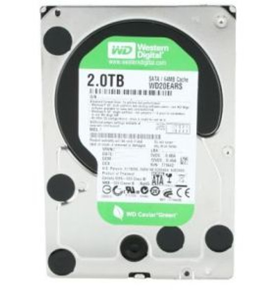"WESTERN DIGITAL 2TB SATA 3.5"" CAVIAR GREEN HD WD20EARS"