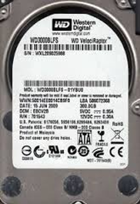"""WESTERN DIGITAL 300GB 10K 2.5"""" SFF SATA HARD DRIVE WD3000BLFS 1"""