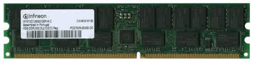 HP 1x1GB of Advanced ECC PC2700 DDR 333 SDRAM DIMM Memory Module (1x1GB module) 358348-B21