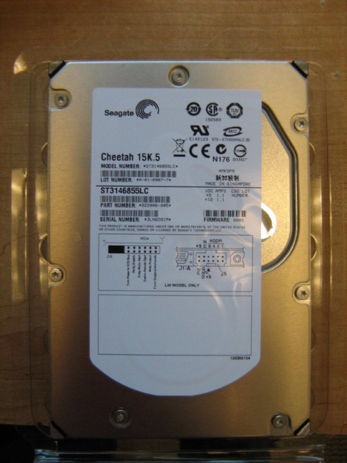 SEAGATE 146GB 15K RPM U320 80 PIN ST3146855LC