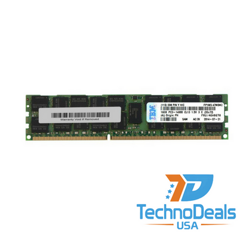 IBM 16GB (1X16GB) 2RX4 PC3-14900R MEMORY  46W0670