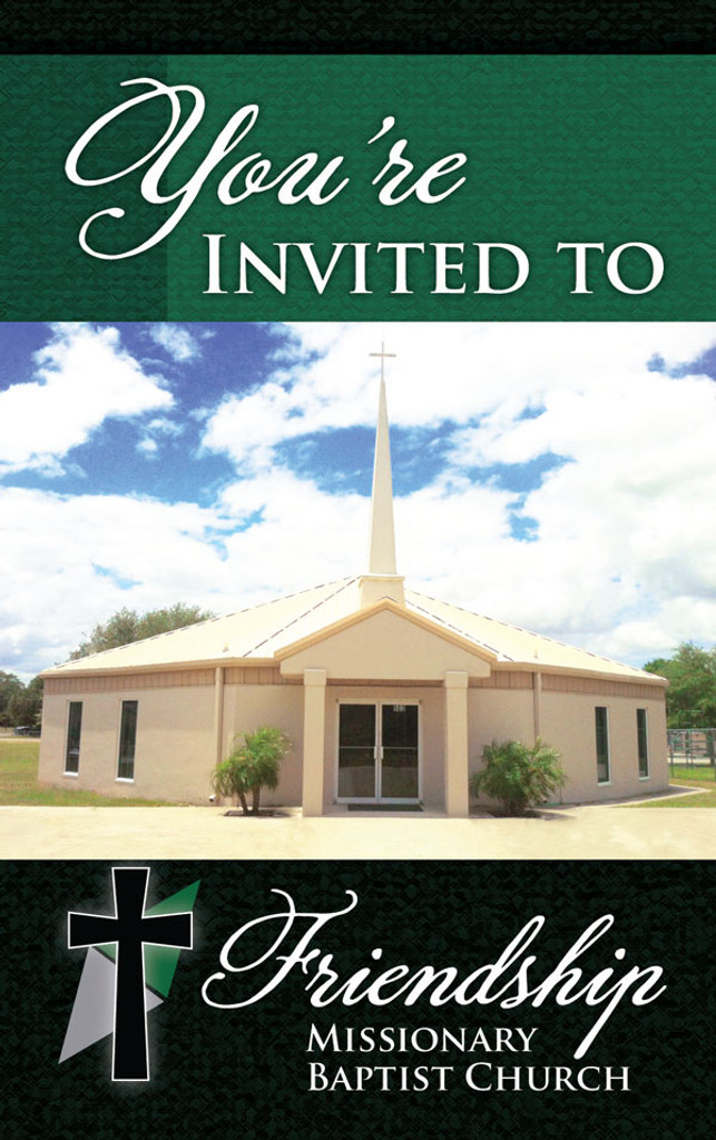 You're Invited Rectangle Photo Green