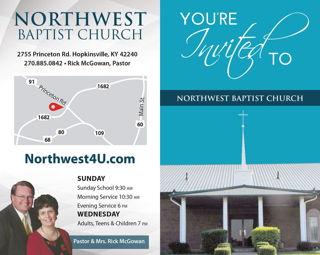 You're Invited Church Cover Blue