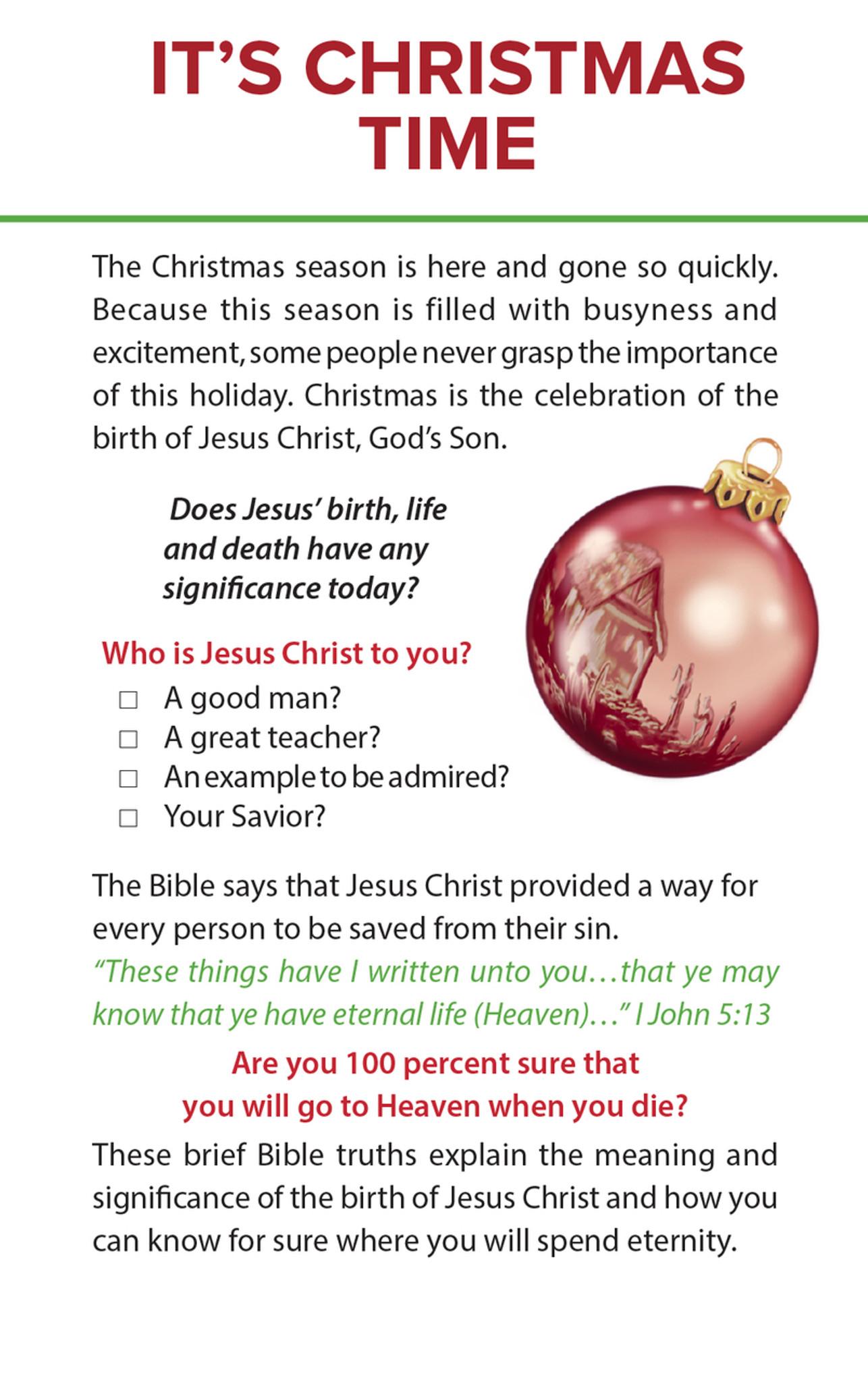 Gospel Tract Christmas