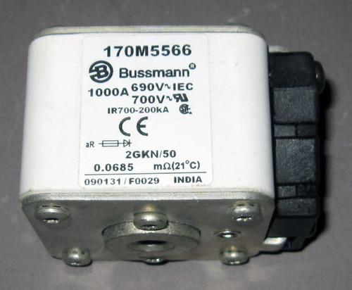 170M5566 - Fuse, 1000A, 690/700V, 2GKN/50 (Bussmann)