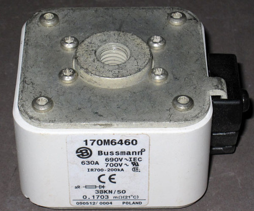 170M6460 - Fuse, 630A, 690/700V 3BKN/50 (Bussmann)
