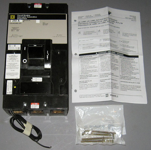 LAL34250MC-1021 - 250A 480V 3P Circuit Breaker with LA11021 Shunt Trip (Square D)