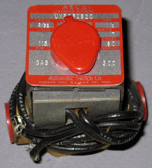 UX8262B20 - Gas Valve, 300PSI, 115VAC Coil (Automatic Switch Co.)