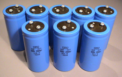 Electrolytic Capacitors, 400V 3900uF - Used