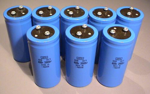 Electrolytic Capacitors, 400V 3900uF - Used