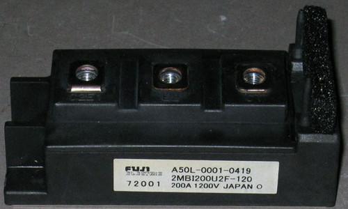 A50L-0001-0419 (Fanuc) - Also: 2MBI200U2F-120 (Fuji) - IGBT - Used