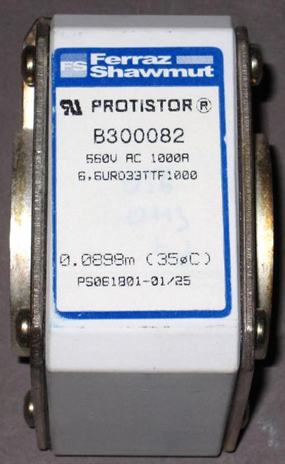 6,6URD33TTF1000 - B30082 - 660VAC 1000A Protistor Fuse (Ferraz Shawmut)