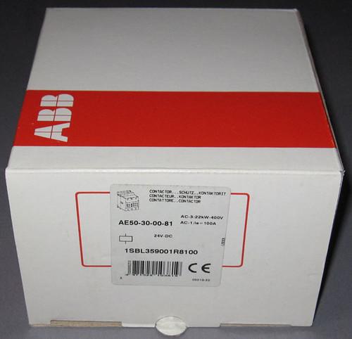 AE50-30-00-81 / 1SBL359001R8100 - Contactor, 24VDC Coil (ABB)
