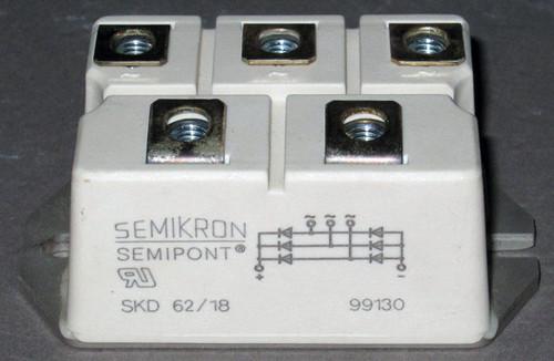 SKD62/18 - 1800V 60A Bridge Rectifier (Semikron)