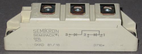 SKKD81/18 - 1800V 82A Dual Diode Module (Semikron)