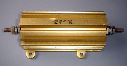Dale RH-250 Power Resistor, 40 Ohm, 250 Watt, +/- 1% - Used