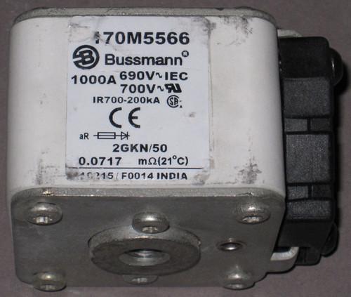 170M5566 - Fuse, 1000A, 690/700V, 2GKN/50 (Bussmann) - Discounted