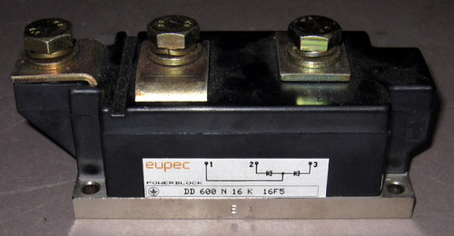 DD600N16K - 1600V 600A Dual Diode Module (Eupec)