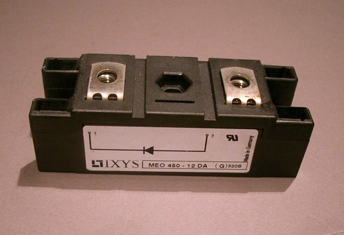 MEO450-12DA IXYS 1200V 450A Fast Recovery Epitaxial Diode Module - Used