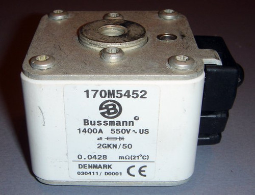 170M5452 2GKN/50 1400A 550V High-Current Fuse - Bussmann