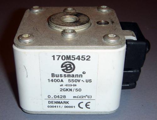 170M5452 2GKN/50 1400A 550V High-Current Fuse - Bussmann