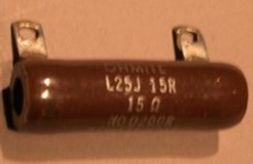 Power Resistor, 15 Ohm, 25 Watt, +/- 5%