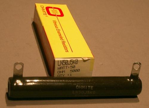 LN50J5K0 - Power Resistor, 5kOhm, 50 Watt, +/- 5% (Ohmite)