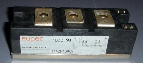 TT142N16KOF - dual SCR, 1600V 142A (average) 230ARMS (Eupec) - Used
