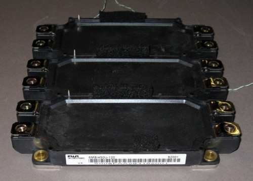 6MBI450U-120 - 6-pack IGBT with thermistors attached, 1200V 450A - (Fuji) - Used