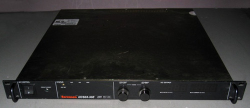 DCS33-33E M15 - 33V 33A, 1kW programmable power supply (Sorensen) - Used