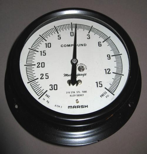 E3310 - Compound Pressure Gauge (Marsh Instrument Company)