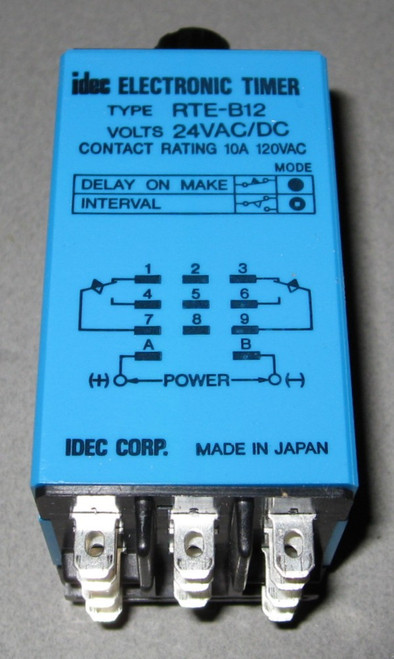RTE-B12 - Electronic timer, Time delay relay (Idec)