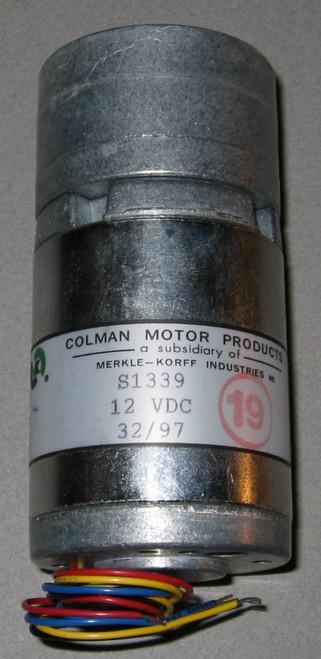 S1339 - Geared 12VDC Motor (Colman)