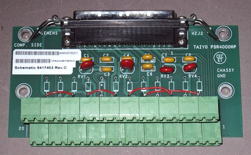 09417395 Rev. E - PCB Assembly, Connector-H40 Circuit board (Siemens)