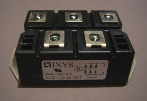 VUO110-12NO7 Bridge Rectifier, 1200V 127A 3-Phase, IXYS - Used